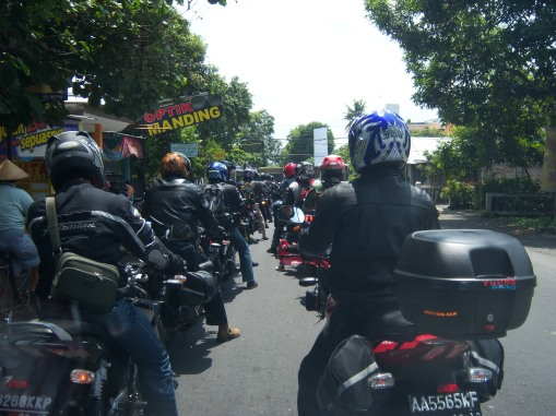 Bikers Group Riding