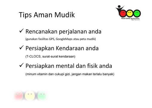 Tips Mudik RSA - 1