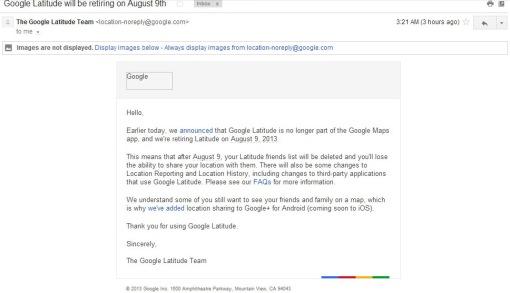 Google Latitude Ditutup...