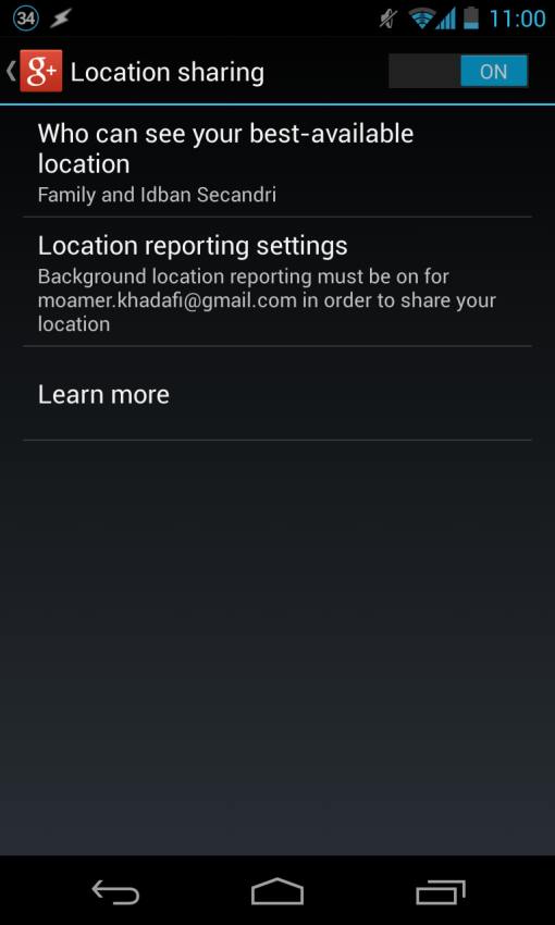 cara mengaktifkan location sharing